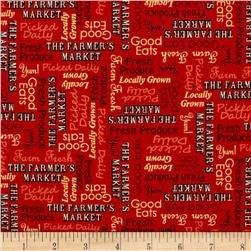 Farmers Market - Red Print