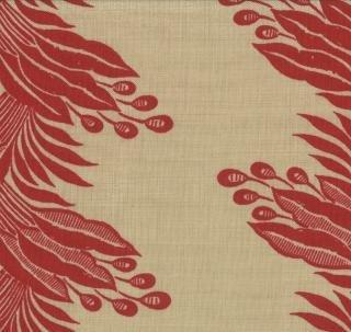 Esprit de Noel - Tan w/red berry stripe