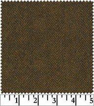 Woolies Flannel -  Brown Herringbone