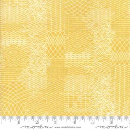 Biscuits Gravy - Basket - Yellow w/white zigzag