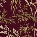 First Ladies - Red Brown Leafy Print