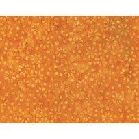 Wilmington Batik - Sm. Flowers & Dots Orange
