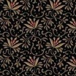Bristol - Black Leaf Print