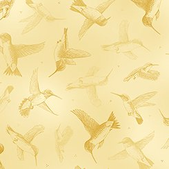 Hummingbirds - Lt. yellow tonal
