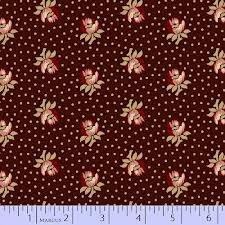 25th Anniversary - Brown w/burgundy floral print