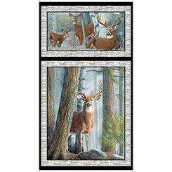 In the Woods - Deer Panel