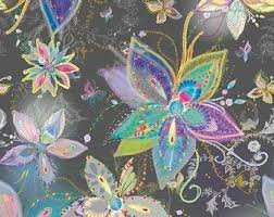 ENCHANTED FLORAL LG FLORAL - Charcoal