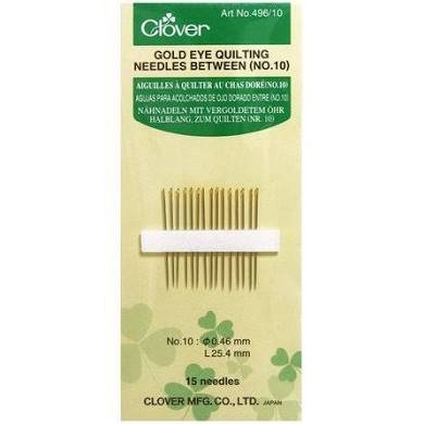 Clover Gold Eye Quilting Needles Between (NO.10)