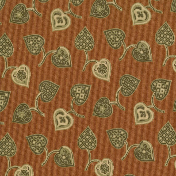 Arnold's Attic-Augusta Red with Tan Hearts