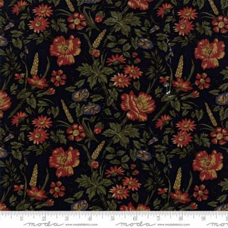 Harvest Hill -  Blue w/Large Floral Print
