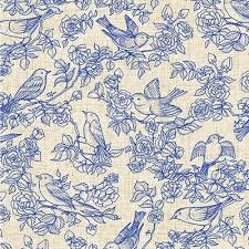 American Beauty -  Blue /Tan Toile