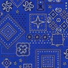 American Beauty -  Blue Bandana Allover