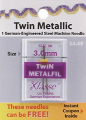 Klasse Needle 75  3mm Twin Embroidery