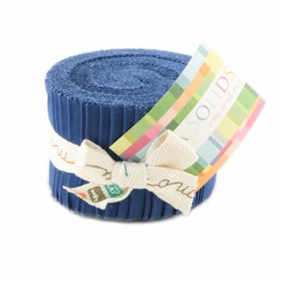 Bella Solids  Jelly Roll - Admiral Blue
