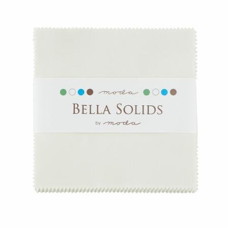Bella Solids Charm Pack - Porcelain