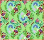 Chirpy Lola Green Viney floral
