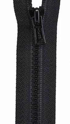 16 Black Separating Zipper