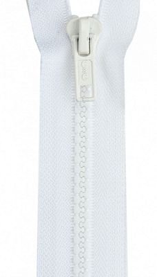 Poly Sport Zipper Separating 16 White