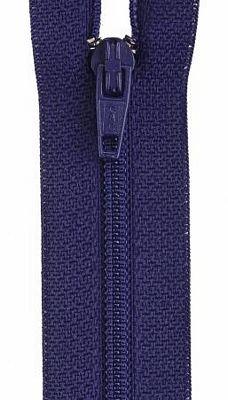 Zipper  Polyester 18 - deep purple