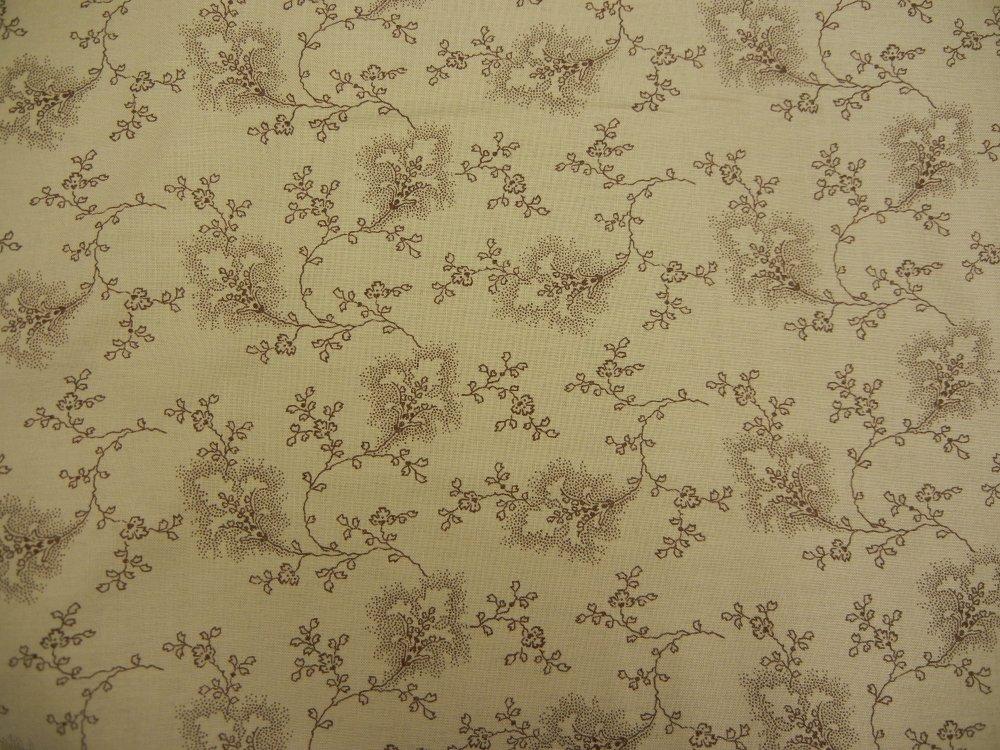 Audras Iris Garden - Tan/Cocoa Vine Print
