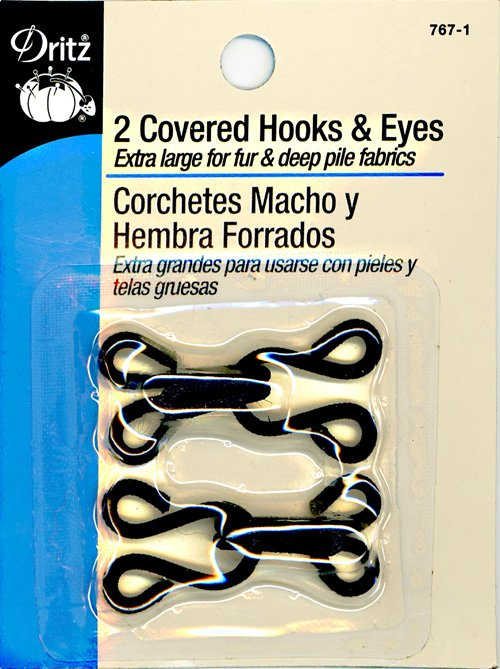2 Covered Hooks & Eyes