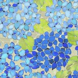 Ajisai Hydrangea - Large Blue Floral Print