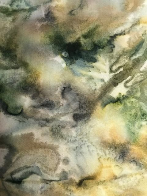Bali Watercolors w/Green/tan/gray