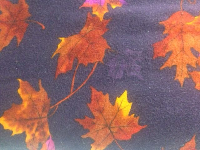 Flannel - Purple w/Rust Leaves