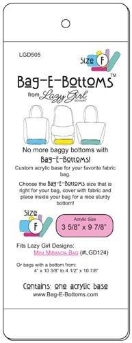 Lazy Girl Designs Bag-E-Bottoms Size F