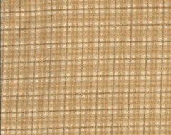 Woolies flannel - Tan Plaid