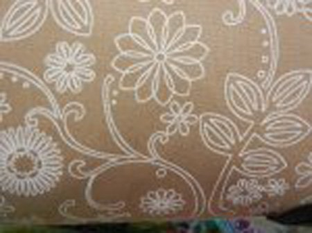 108 Wide Backing Brown Floral