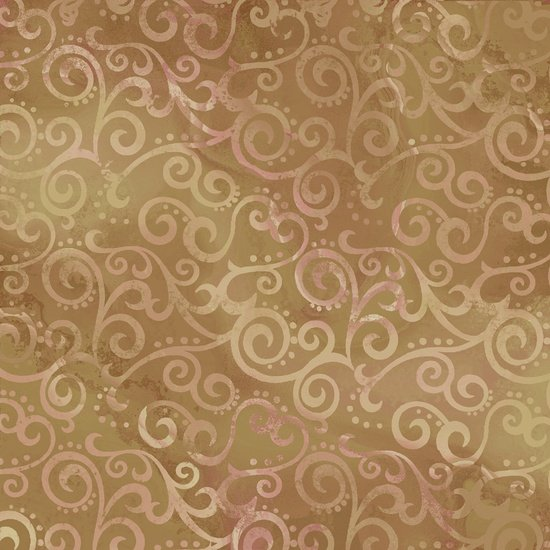 Ombre Scroll-Camel