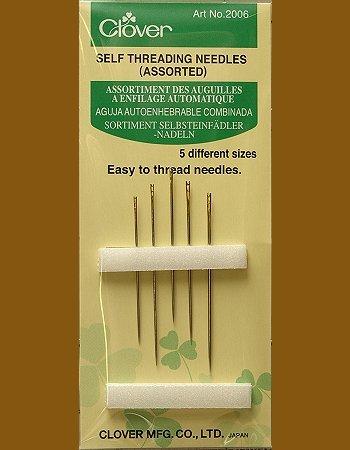 Clover Self Threading Needles - Assorted