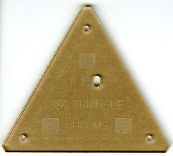 Laundry Basket Quilts: Charm Template 60 Degree Triangle