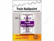 Klasse Needle 80 4mm Twin Ballpoint