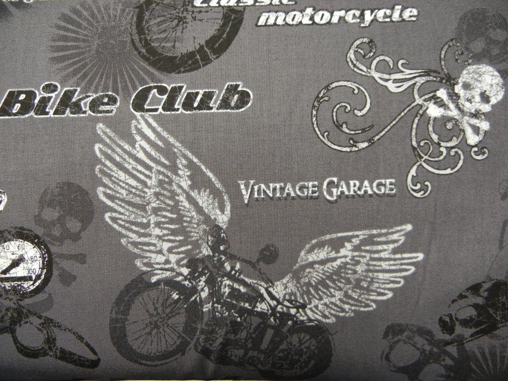 Retro Rider - Grey Biker Collage
