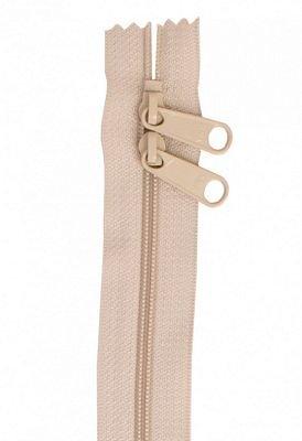 Zipper - 30 Double Slide Handbag Zipper-Natural