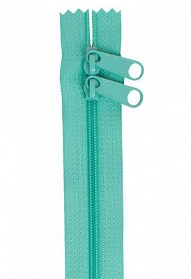 Zipper - 30 Double Slide Hang Bag Zipper-Turquoise