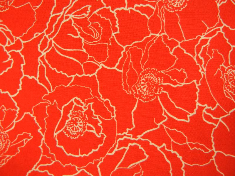 Poppies - Red Background w/white