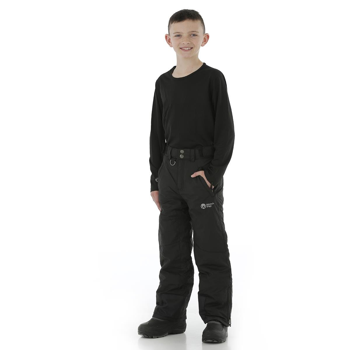 Winter's Edge Avalanche Snow Pants Black - Youth