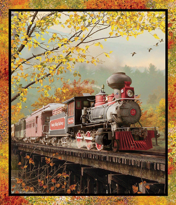 Autumn Steam - Lg Train Panel