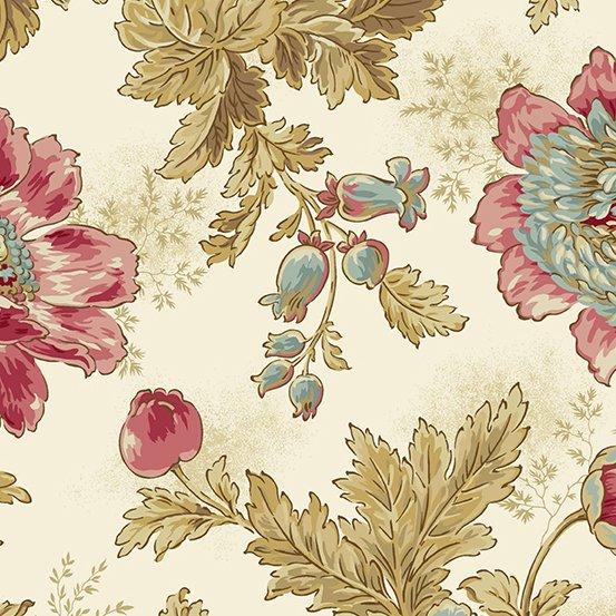 Super Bloom  Cream Large Floral