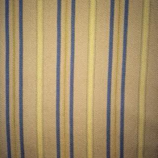Homespun Stripe - Blue Gold Cream Tan