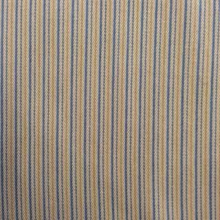 Homespun Stripe - Steel Blue Gold Tan