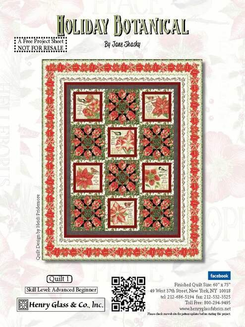 holiday botanical quilt kit