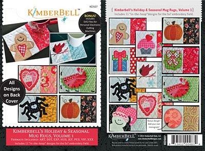 kimberbell's holiday and seasonal mug rugs