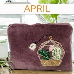 kimberbell fitb april zipper pouch