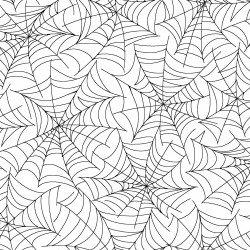 spiderweb white/black
