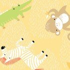 Clothworks Sweet Safari II LIGHT GOLD ORGANIC