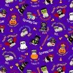 Purple Grumpy Cats Halloween